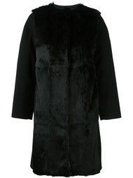 пальто 'Manteau Ceinture' с меховой отделкой Plein Sud Jeanius