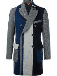 полосатое двубортное пальто  Barena