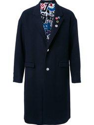 однобортное пальто Doublet