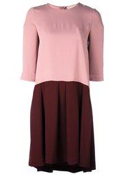 двухцветное платье Erika Cavallini