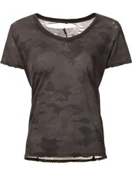 camouflage print T-shirt Unravel