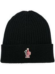 шапка-бини в рубчик с логотипом Moncler Grenoble