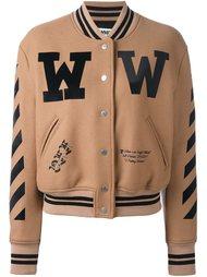 куртка-бомбер с контрастными полосками Off-White