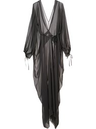 draped sheer dress Isabel Benenato