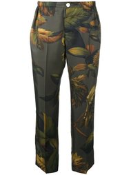 брюки с лиственным принтом For Restless Sleepers