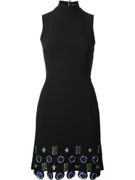 metal circle appliqué dress David Koma
