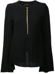 zipped neck blouse Ellery