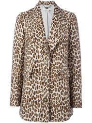 пальто с леопардовым узором и заостренными лацканами Stella McCartney