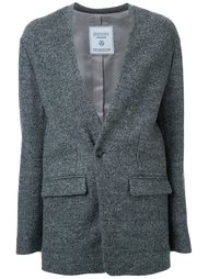 colarless blazer jacket Fad Three