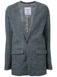 colarless blazer jacket Fad Three