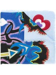 шарф с принтом сердец Mary Katrantzou