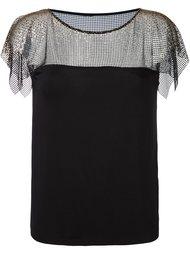 блузка с кружевным слоем Versace Collection