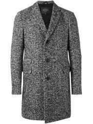 пальто с узором-елочкой Tod's