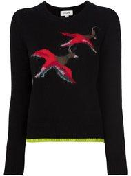 свитер с принтом-интарсией птиц Coach