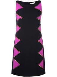 платье дизайна колор-блок с заклепками Versace Collection
