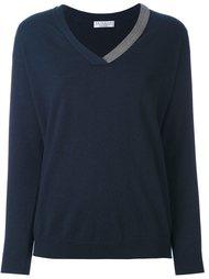 свитер с V-образным вырезом Brunello Cucinelli