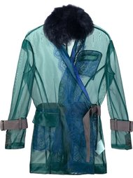 transparent belted jacket Sacai