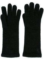 перчатки с вышитым логотипом Polo Ralph Lauren