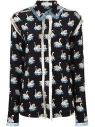 рубашка с принтом лебедей Stella McCartney