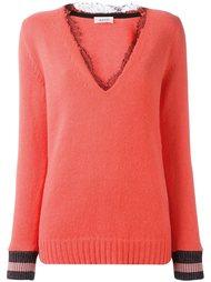 свитер с кружевной отделкой  Aviù