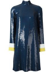 платье с высокой горловиной и пайетками Emilio Pucci