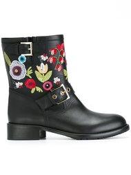ботинки с вышивкой Red Valentino
