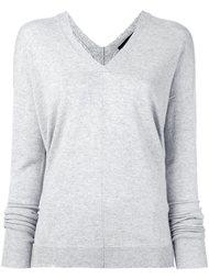 свитер c V-образным вырезом   Piazza Sempione