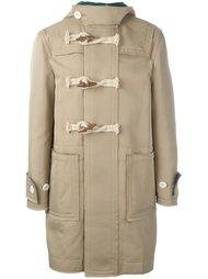 пальто дафлкот с необработанными краями Sacai