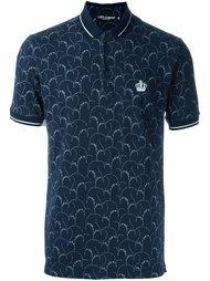 футболка-поло с цветочным принтом Dolce & Gabbana