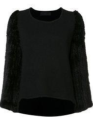 fur sleeve sweater Co