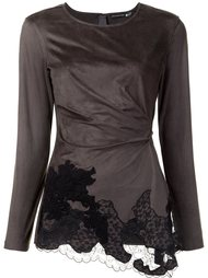 lace draped detail blouse Josie Natori