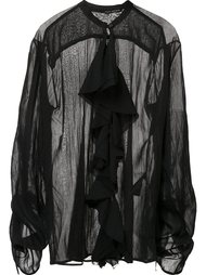 sheer ruffle blouse  Isabel Benenato
