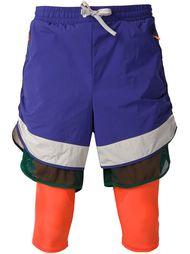 многослойные спортивные шорты Adidas X Kolor Adidas