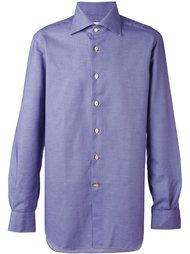 рубашка с принтом в ломаную клетку Kiton