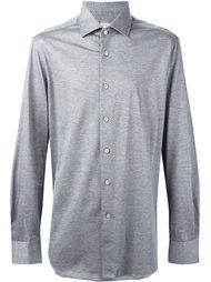 меланжевая рубашка Kiton