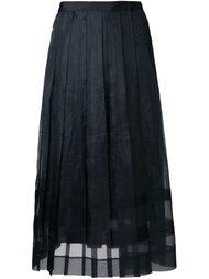 прозрачная плиссированная юбка  Muveil