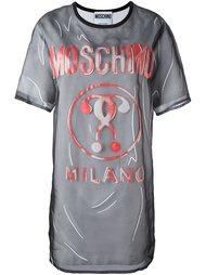 многослойное платье с принтом Moschino