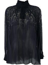 декорированная блузка Roberto Cavalli