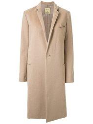 однобортное пальто Fad Three