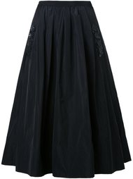 плиссированная юбка с цветочной аппликацией Muveil