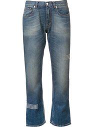 укороченные джинсы с заклепками Christopher Kane