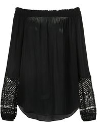 macrame detail off-shoulders blouse Kobi Halperin
