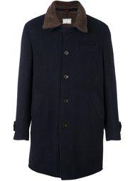 пальто с контрастным воротником Brunello Cucinelli