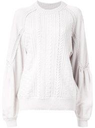 текстурированный свитер с объемными рукавами Muveil