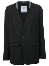 collarless blazer jacket Fad Three
