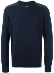 свитер со вставками на плечах  Hackett