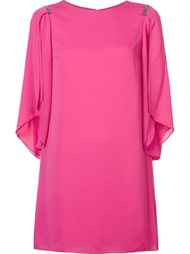 draped sleeves shift dress Halston Heritage