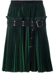 плиссированная юбка с ремнем Sacai