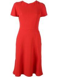 расклешенное платье с короткими рукавами Alexander McQueen