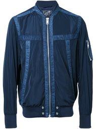 куртка-бомбер с джинсовой отделкой Diesel